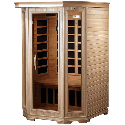 Golden Designs 2 Person Low EMF Far Infrared Sauna GDI-6272-01 - Houux
