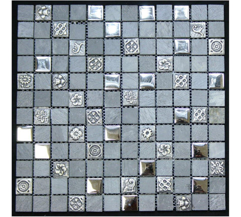 Legion Furniture Mix Tile MS-MIXED06 Tempered Glass & Stone