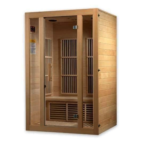 "Golden Designs Maxxus ""Seattle Edition"" 2 Per Low EMF FAR Infrared Carbon Canadian Hemlock Sauna MX-J206-01 - Houux"