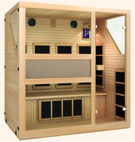 JNH Lifestyles Ensi 4 Person Hemlock Wood Zero-EMF Far Infrared Sauna - Houux