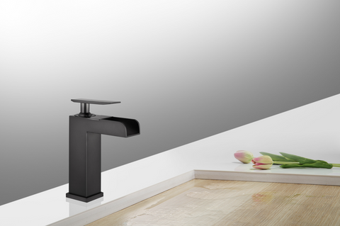 Legion Furniture ZY8001-OR UPC Faucet With Drain, Oil Rubber Black - Houux