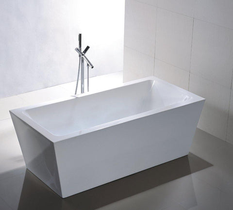 "Legion Furniture 67"" White Acrylic Tub, No Faucet WE6814"