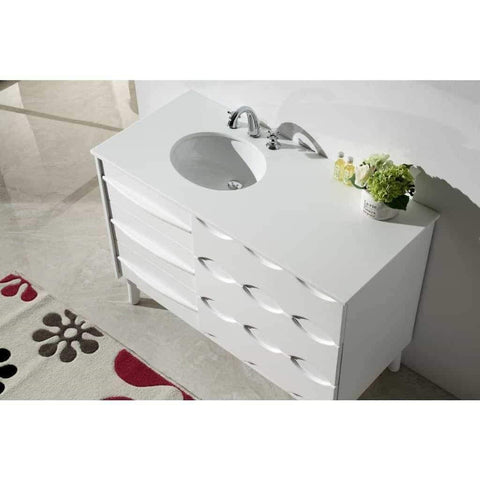 "Legion Furniture 48"" White Bathroom Vanity Ceramic WH5048 - Houux"