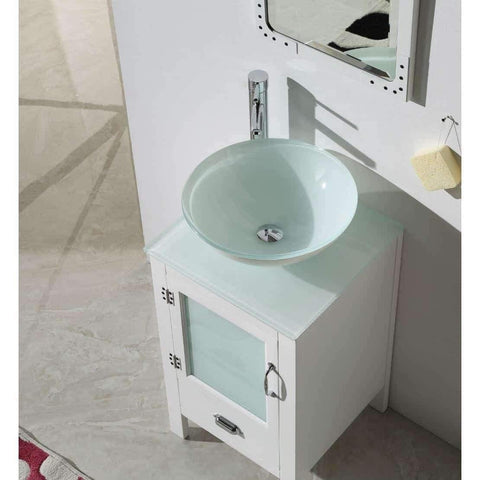 Legion Furniture Unique Bathroom Vanities with Sink 19 inch White/Black WH5518 - Houux