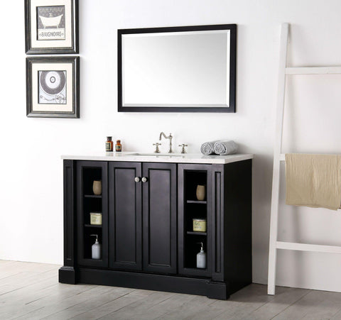 "Legion Furniture WH7248-E 48"" Wood Sink Vanity With Quartz Top, No Faucet"
