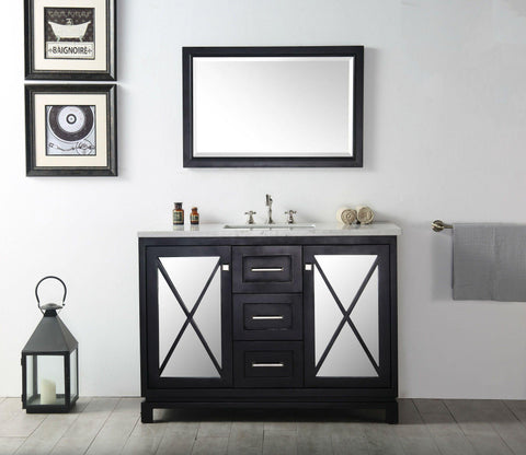 "Legion Furniture WH7448-E 48"" Wood Sink Vanity With Quartz Top, No Faucet"