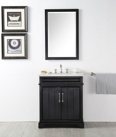 "Legion Furniture WH7730-E 30"" Wood Sink Vanity With Ceramic Top, No Faucet"