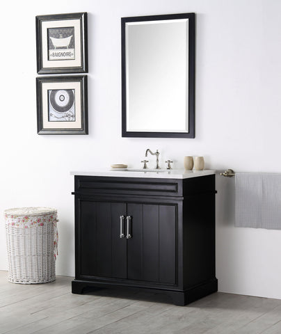"Legion Furniture WH7736-E 36"" Wood Sink Vanity With Ceramic Top, No Faucet"