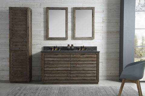 "Legion Furniture WH8360 60"" Wood Sink Vanity Match With Marble WH 5160"" Top, No Faucet - Houux"