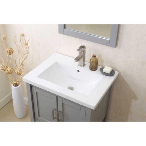 "Legion Furniture Vanity Set 24"" with Mirror Faucet Basket WLF6021"