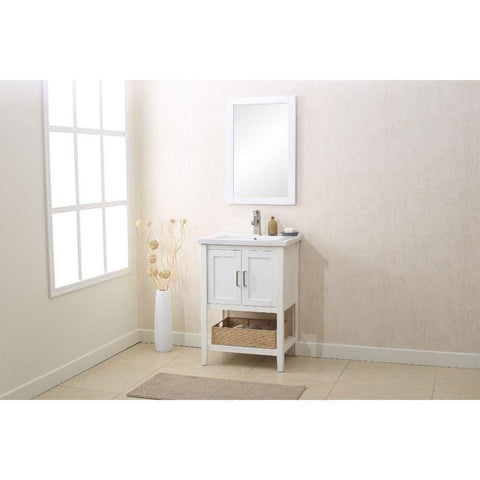 "Legion Furniture Vanity Set 24"" with Mirror Faucet Basket WLF6021 - Houux"