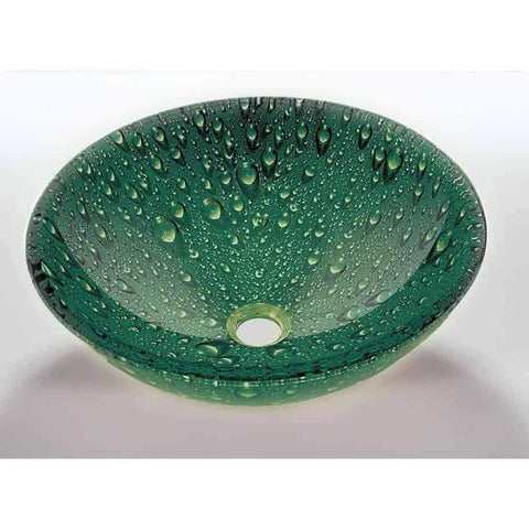 Legion Furniture Tempered Glass Vessel Sink Bowl - Green ZA-10 - Houux
