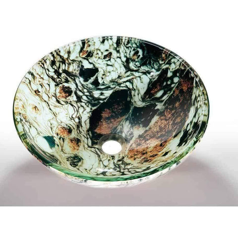 Legion Furniture Tempered Glass Vessel Sink Bowl - Earth ZA-12 - Houux