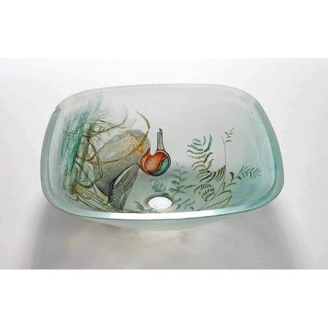 Legion Furniture Tempered Glass Vessel Sink Bowl Duck ZA-131 - Houux