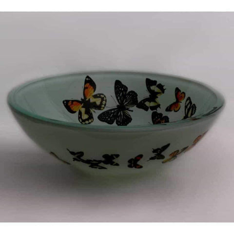 Legion Furniture Tempered Glass Vessel Sink Bowl Butterfly Frosted ZA-20