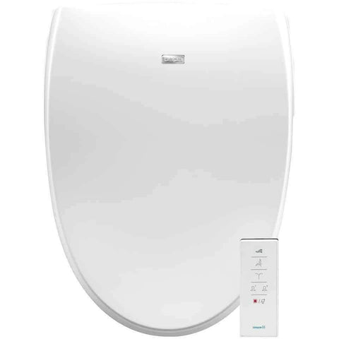 Bio Bidet Luxury Class Bidet Toilet Seat, Elongated White, Dual Sided A8 Serenity