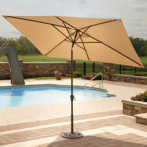 Adriatic 6.5-ft x 10-ft Rectangular Market Umbrella in Sunbrella Acrylic - Houux