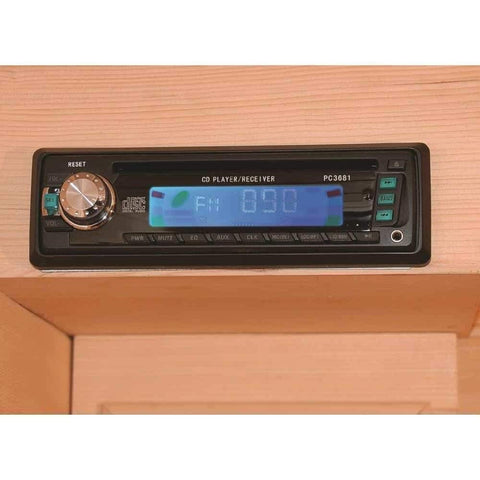 "SunRay Saunas Cayenne 4 Person FAR Infrared Sauna 75""x 71""x 47"" HL400D Radio"