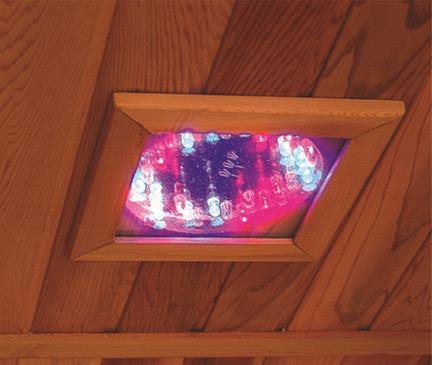 "Sunray Bristol Bay 4 Person Canadian Red Cedar Infrared Sauna 65"" x 65"" x 75"" HL400KC Light"