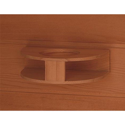 "SunRay Saunas Cayenne 4 Person FAR Infrared Sauna 75""x 71""x 47"" HL400D Shelf"
