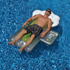 Beer Mug 72-in Inflatable Pool Float w/ Mini Cooler
