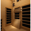 Image of JNH Lifestyles Joyous 2 Person Sauna Hemlock Wood Carbon Fiber Infrared - Houux