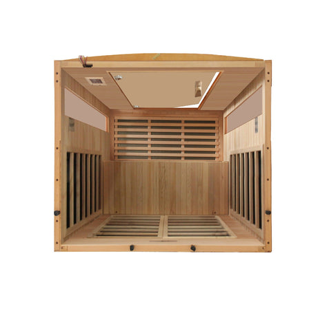"Golden Designs Dynamic ""Versailles"" 2-Person Low EMF Far Infrared Sauna DYN-6202-03"