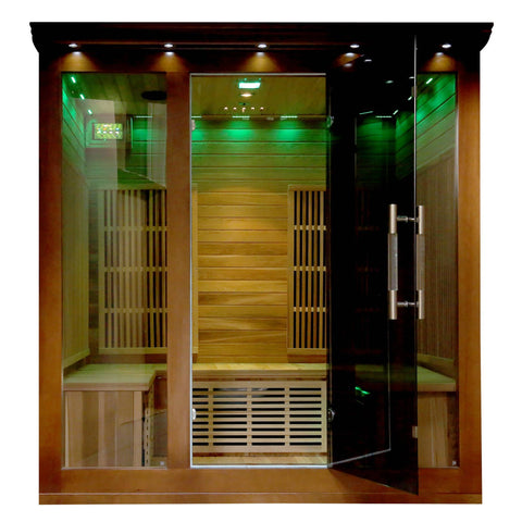 Cedar Elite 4-5 Person Premium Sauna w/ 9 Carbon Heaters - Houux