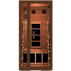 JNH Lifestyles Freedom 1 Person Red Cedar Wood Infrared Sauna - Houux