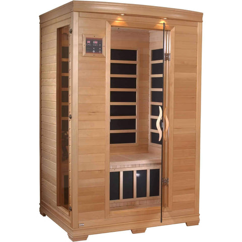 Golden Designs 2 Person Low EMF Far Infrared Sauna GDI-6232-01 - Houux