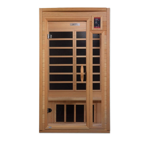 "Golden Designs Dynamic ""Barcelona"" 1-2-person Low EMF Far Infrared Sauna GDI-6106-01 - Houux"