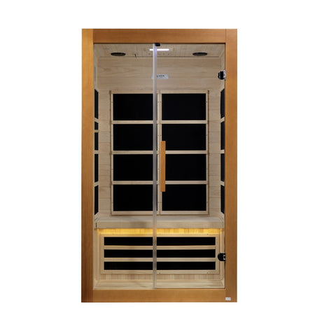 "Golden Designs Dynamic ""Toulouse""  2-Person Ultra Low EMF Far Infrared Sauna DYN-6208-01"