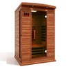 Image of Golden Designs Maxxus 2 Per Full Spectrum Near Zero EMF FAR Infrared Carbon Canadian Hemlock Sauna MX-M206-01-FS CED