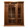 "Image of Golden Designs Maxxus ""Avignon Edition"" 3 Per Near Zero EMF FAR Infrared Carbon Canadian Red Cedar Sauna MX-K306-01-ZF Ced"