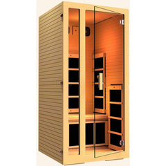 JNH Lifestyles Joyous 1 Person Hemlock Wood Carbon Fiber Far Infrared Sauna