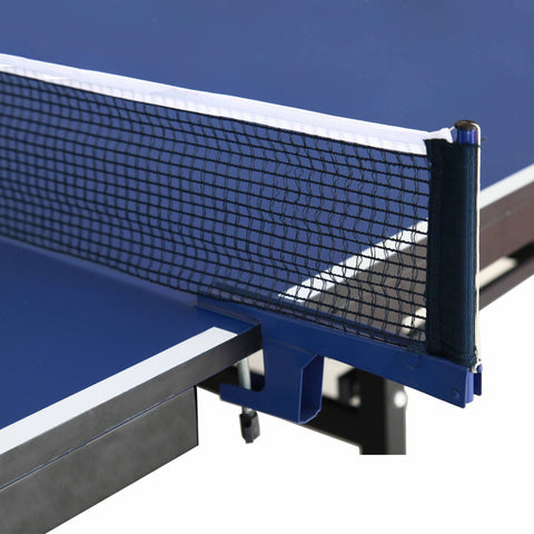 Back Stop 9-Foot Table Tennis for Family Game Rooms with Foldable Halves for Individual Play - Houux
