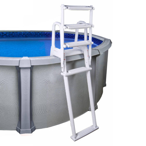 A-Frame Flip Up Ladder for Above Ground Pools - Houux