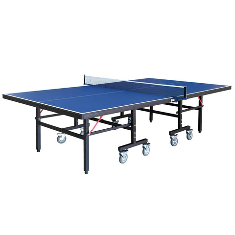 Back Stop 9-Foot Table Tennis for Family Game Rooms with Foldable Halves for Individual Play