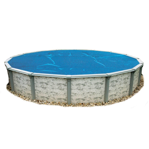 8-mil Solar Blanket for Round Above-Ground Pools – Blue - Houux