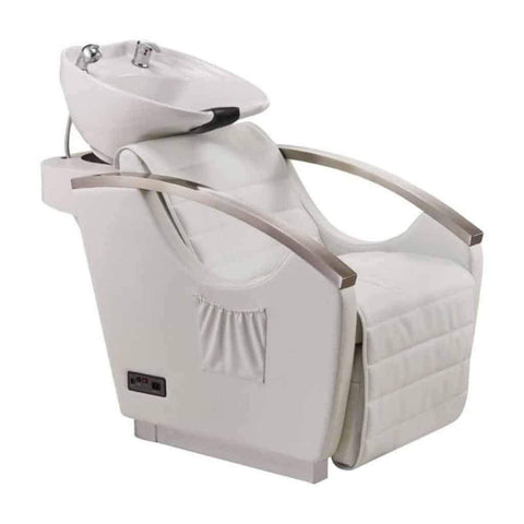 DIR Salon Massage Bella III Shampoo Backwash with Reclining Backrest (1) and Bello Styling Chair (3) Salon Package DIR 7903-1902 - Houux