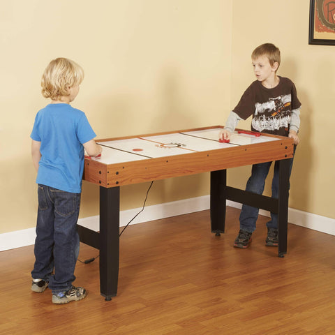 Accelerator 4-in-1 Multi-Game Table with Basketball, Air Hockey, Table Tennis and Dry Erase Board for Kids and Families - Houux