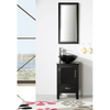 Image of Legion Furniture Unique Bathroom Vanities with Sink 19 inch White/Black WH5518 - Houux