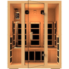 Image of JNH Lifestyles Joyous 3 Person Hemlock Wood Carbon Fiber Far Infrared Sauna (2019 Model) - Houux