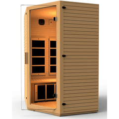 JNH Lifestyles Vivo 2-3 Person Hemlock Wood Carbon Fiber Far Infrared Sauna
