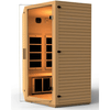 Image of JNH Lifestyles Vivo 2-3 Person Hemlock Wood Carbon Fiber Far Infrared Sauna - Houux