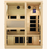 Image of JNH Lifestyles Ensi 3 Person Hemlock Wood Zero-EMF Far Infrared Sauna - Houux