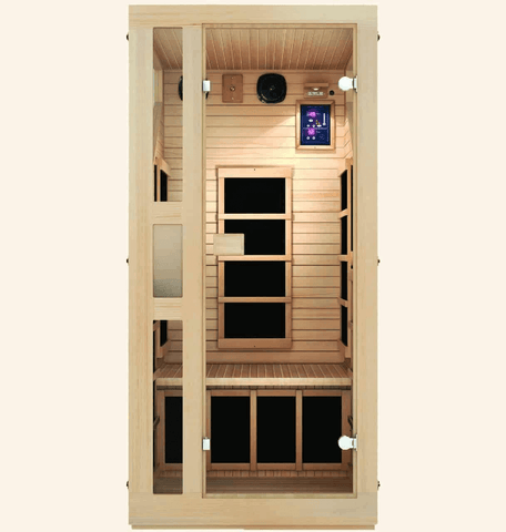 JNH Lifestyles Ensi 1 Person Hemlock Wood Zero-EMF Far Infrared Sauna - Houux
