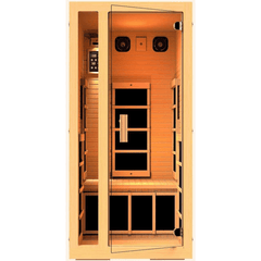 JNH Lifestyles Joyous 1 Person Hemlock Wood Carbon Fiber Far Infrared Sauna - Houux