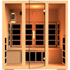 Image of JNH Lifestyles Joyous 4 Person Hemlock Wood Carbon Fiber Far Infrared Sauna - Houux