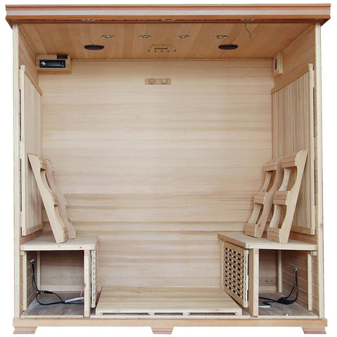 Great Bear 6-Person Cedar Infrared Sauna w/ 10 Carbon Heaters